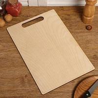 Доска разделочная двухсторонняя, прямоугольная, ручка вырез, 34x23x0.6 см