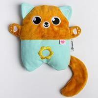 Развивающая игрушка - грелка с вишнёвыми косточками 'Котик'
