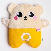 Развивающая игрушка - грелка с вишнёвыми косточками 'Мишка'