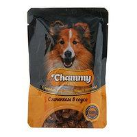 Влажный корм Chammy для собак, ягненок в соусе, 85 г (комплект из 24 шт.)