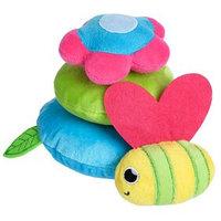 Развивающая игрушка - пирамидка 'Пчелка' на липучках