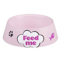 Миска 'Феликс' для кошек, 0,3 л, 14,5 x 14,5 x 4 см, розовый