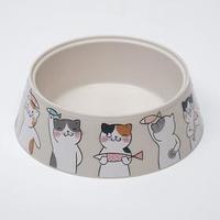 Миска 'Мур-мяу' для кошек, 0.3 л, серая