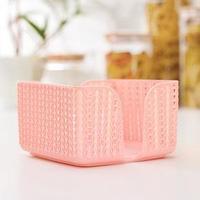 Салфетница 'Вязание', цвет розовый