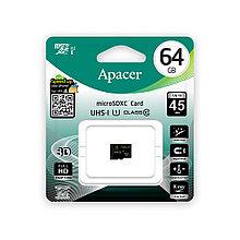 Карта памяти MicroSD  Apacer AP64GMCSX10U1-R 64GB