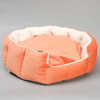 Лежанка 'Пухлик корзинка' Манго, большая, мебельная ткань, 50 х 50 х 20 см
