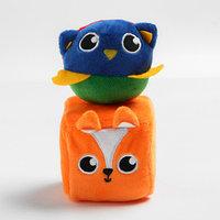Набор развивающих игрушек, 2 предмета кубик 'Лисичка', мячик 'Совушка'