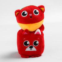 Набор развивающих игрушек, 2 предмета кубик 'Собачка', мячик 'Котик'