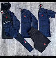 Рашгарды ( компрессионное белье) Reebok 5в1 комбинированный синий-черный