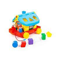 Развивающая игрушка сортер Садовый домик на колёсиках Polesie