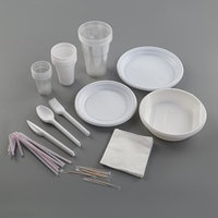 Набор одноразовой посуды 'Биг-Пак 1', 6 персон, цвет белый