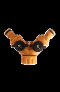 Разветвитель регулируемый 2-х канальный со штуцерами Вихрь