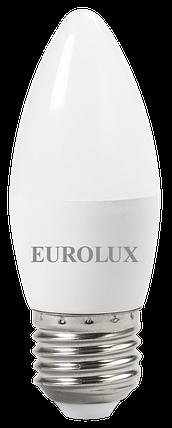 Лампа светодиодная EUROLUX LL-E-C37-6W-230-2,7K-E27, фото 2