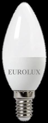 Лампа светодиодная EUROLUX LL-E-C37-6W-230-2,7K-E14, фото 2
