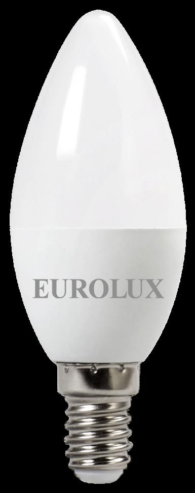 Лампа светодиодная EUROLUX LL-E-C37-5W-230-4K-E14