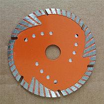 Диск алмазный отрезной Турбо - сегментный, 125 х 22,2 мм, сухая резка Вихрь, фото 2