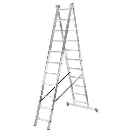 Лестница алюминиевая ВИХРЬ ЛА 2х11, фото 2