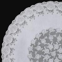 Скатерть столовая 'Ажурная' Dia Rose, d152 см, 10 шт в рулоне, цвет белый