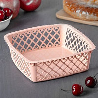 Ваза для хлеба и фруктов Amor квадратная, 20x6 см, цвет МИКС