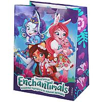 """Подарочный пакет Бумажный """"Enchantimals"""", 33х46х20 см. CLRBG-ENCH-03-1"""