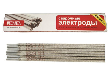 Сварочный электрод РЕСАНТА МР-3 Ф2,5 Пачка 3 кг, фото 2