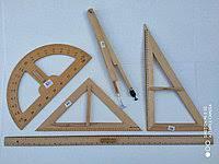 Набор деревянных линеек для школьной доски 5 предметов
