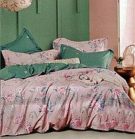 Комплект постельного белья двуспальный из хлопка с цветами