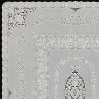 Скатерть столовая 'Ажурная' Mary Rose, 132 х 177см, 10 шт в рулоне
