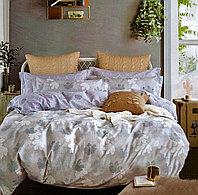 Комплект постельного белья двуспальный из хлопка с рисунком листочков