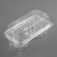 Контейнер одноразовый с неразъёмной крышкой ПР-ПК62С2, для 2-х кексов, 18,8x13,8 см, цвет прозрачный (комплект