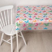 Скатерть без основы многоразовая 110х120 см 'Бабочки' цвет прозрачный
