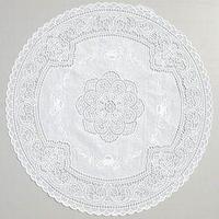 Набор салфеток 'Ажурная', круг 40 см, цвет рулон 50 шт, цвет белый