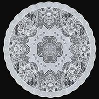 Салфетка 'Ажурная' Canna, круг 40 см, цвет белый