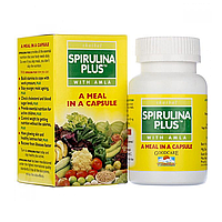 Спирулина Плюс ,источник витаминов,60 капсул ,Байдьянатх
