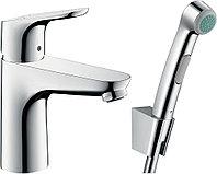Смеситель для раковины с гигиеническим душем, с донным клапаном Focus 31927000