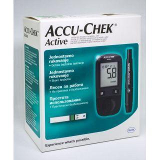 Акку-чек  актив  комплект №1 глюкометр-тест пол №10