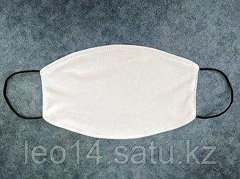 Маска для сублимации, Муж,  Белая резинка