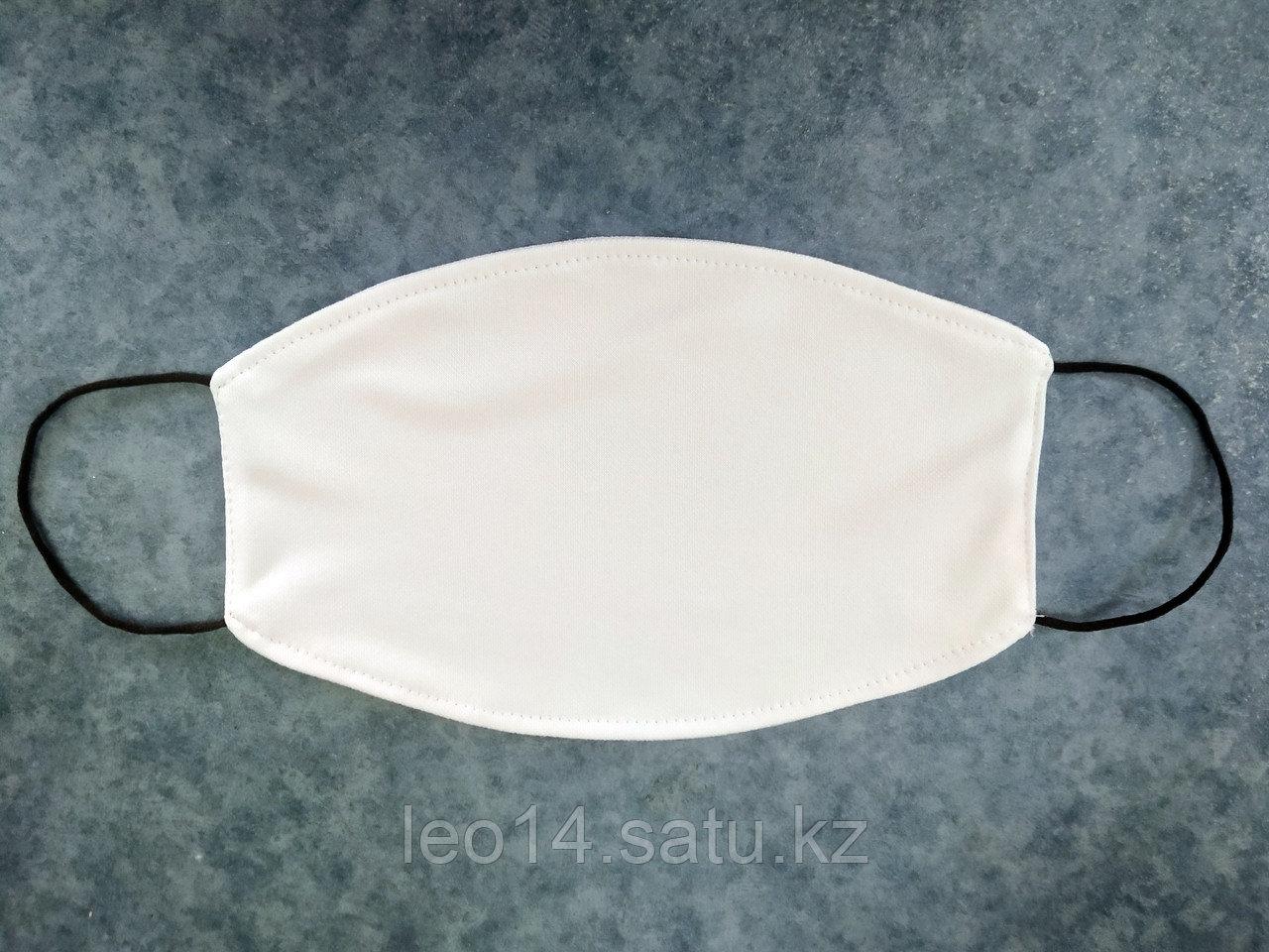 Маска для сублимации, Дет,  Белая резинка