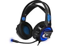 Наушники CROWN CMGH-3001 черный-синий