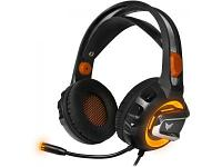 Наушники CROWN CMGH-3003 черный-оранжевый