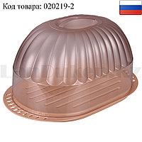 """Хлебница для хранения хлебобулочных изделий """"Дар"""" пластиковая прозрачная крышка (бежевая)"""