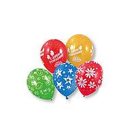 """Воздушные шарикис рисунком """"ВЕСЁЛАЯ ЗАТЕЯ 1111-0111""""(10*5 шт. в пакете)"""