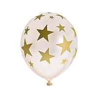 Воздушные шарики с рисунком Звезды ВЕСЁЛАЯ ЗАТЕЯ, 1111-0947, (10*5 шт. в пакете)
