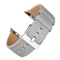 Ремешок Hoco WB04 Duke series leather strap для Apple Watch 40 mm серый