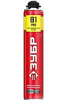Пена ЗУБР ПРО B1, профессиональная, монтажная, пистолетная, всесезонная, 750мл 41146