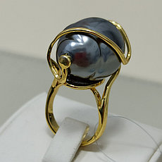 Кольцо с жемчугом / барроко / 16,5 размер