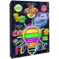 "Тесто для лепки Danko toys ""Fluoric"", 10 цветов, светится в темноте"
