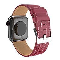 Ремешок Hoco WB05 Ocean wave leather strap для Apple Watch 42/44mm красный