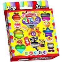 """Тесто для лепки Danko toys """"Master Do"""", 12 цветов"""