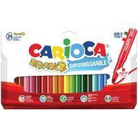 """Фломастеры Carioca """"Bravo"""", 24цв., утолщенные, смываемые, картон, европодвес  Carioca"""